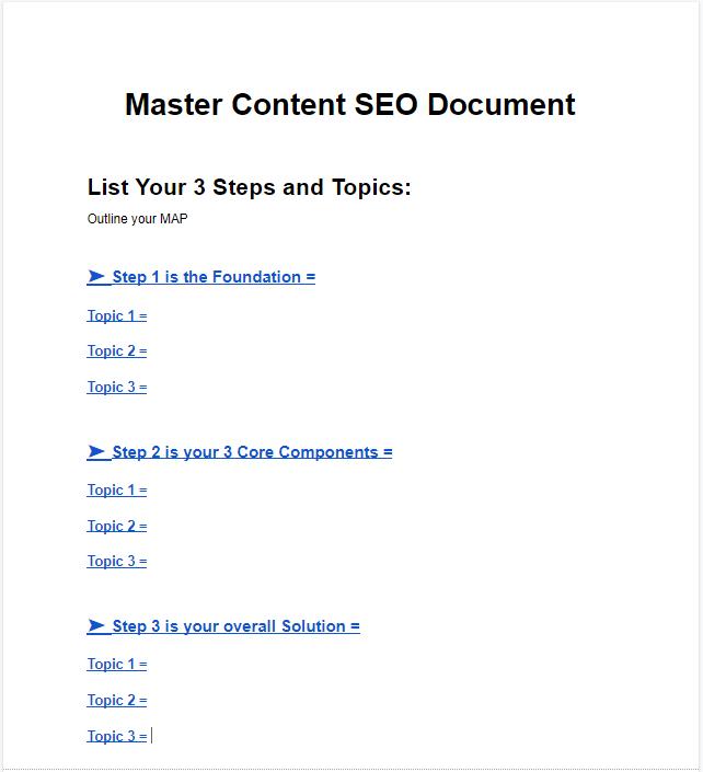 SEO Master Content Document