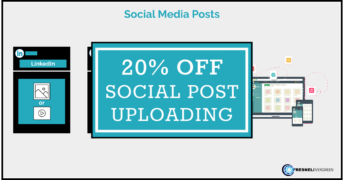 Social Media Post Uploading Discount